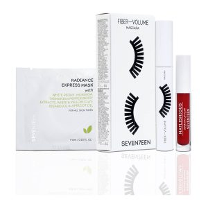Seventeen Set Mascara Fiber - volume + Sachet + Mini Matlishious Red 2,5ml
