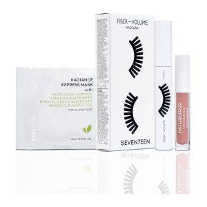 Seventeen Set Mascara Fiber - volume + Sachet + Mini Matlishious Nude 2,5ml