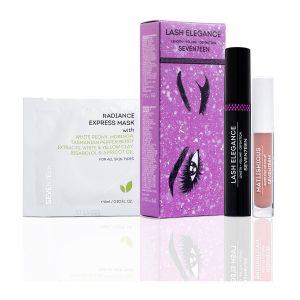 Seventeen Set Mascara Lash Elegance 13ml + Radiance express mask 6ml + Mini Matlishious Nude 2,5ml